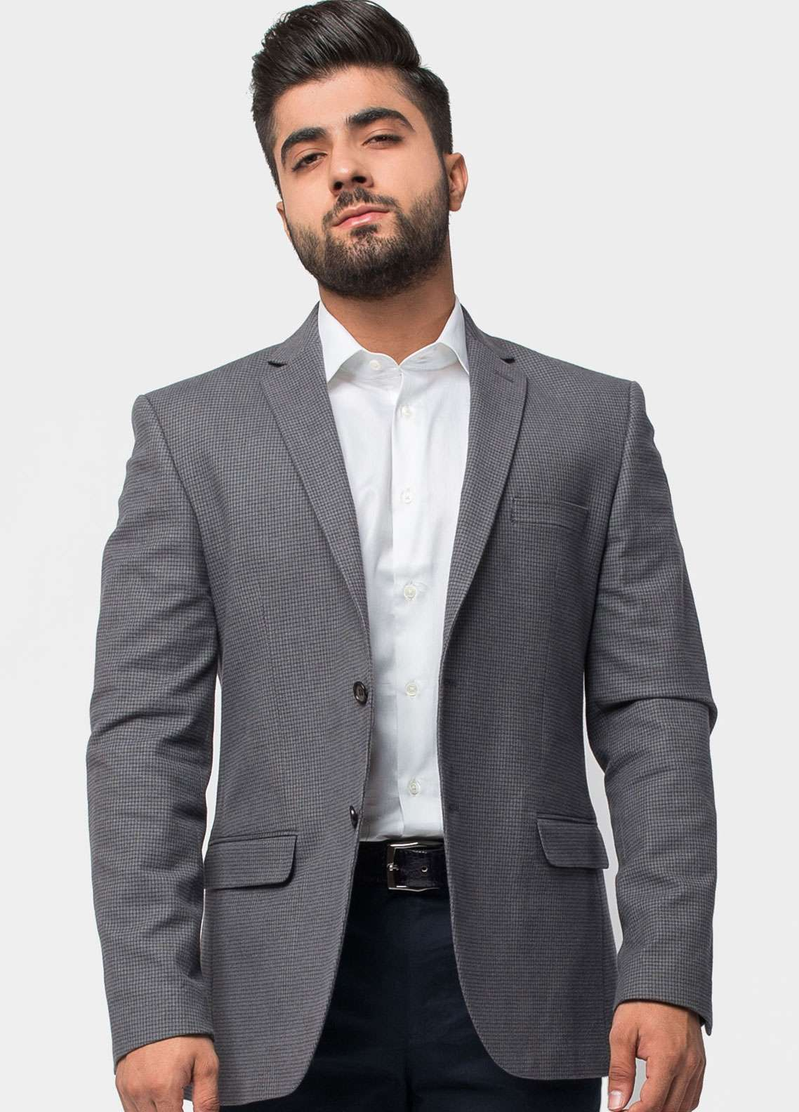Brumano Cotton Casual Men Blazer - Grey BLZ-518