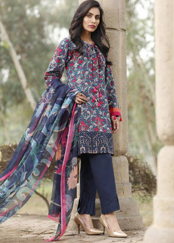Lime Light Printed Khaddar Unstitched 2 Piece Suit LL17W2 117