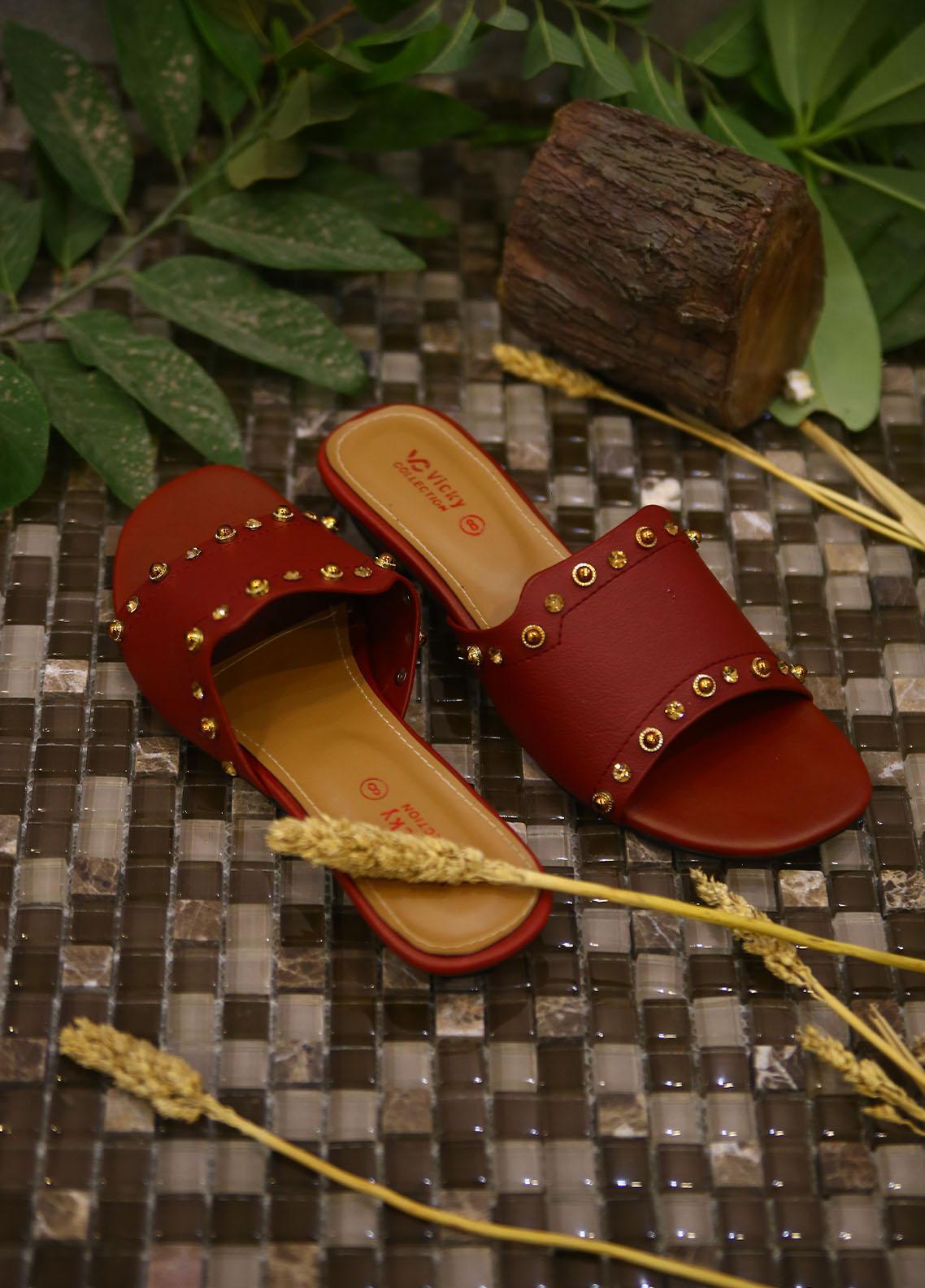 1st Sight Fashion Casual Style  Flat  Vicky Flat 2 Red