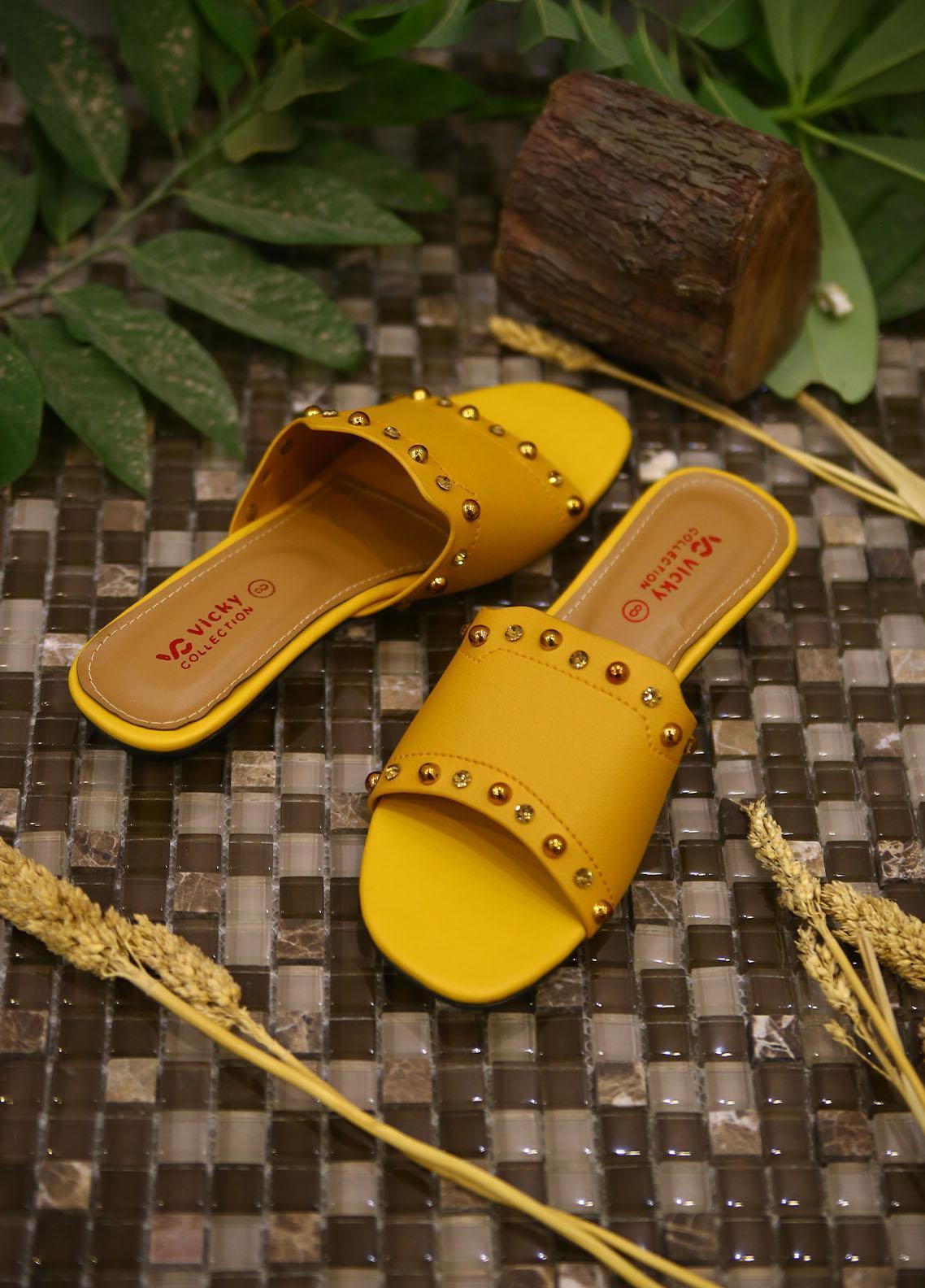 1st Sight Fashion Casual Style  Flat  Vicky Flat 2 Yellow