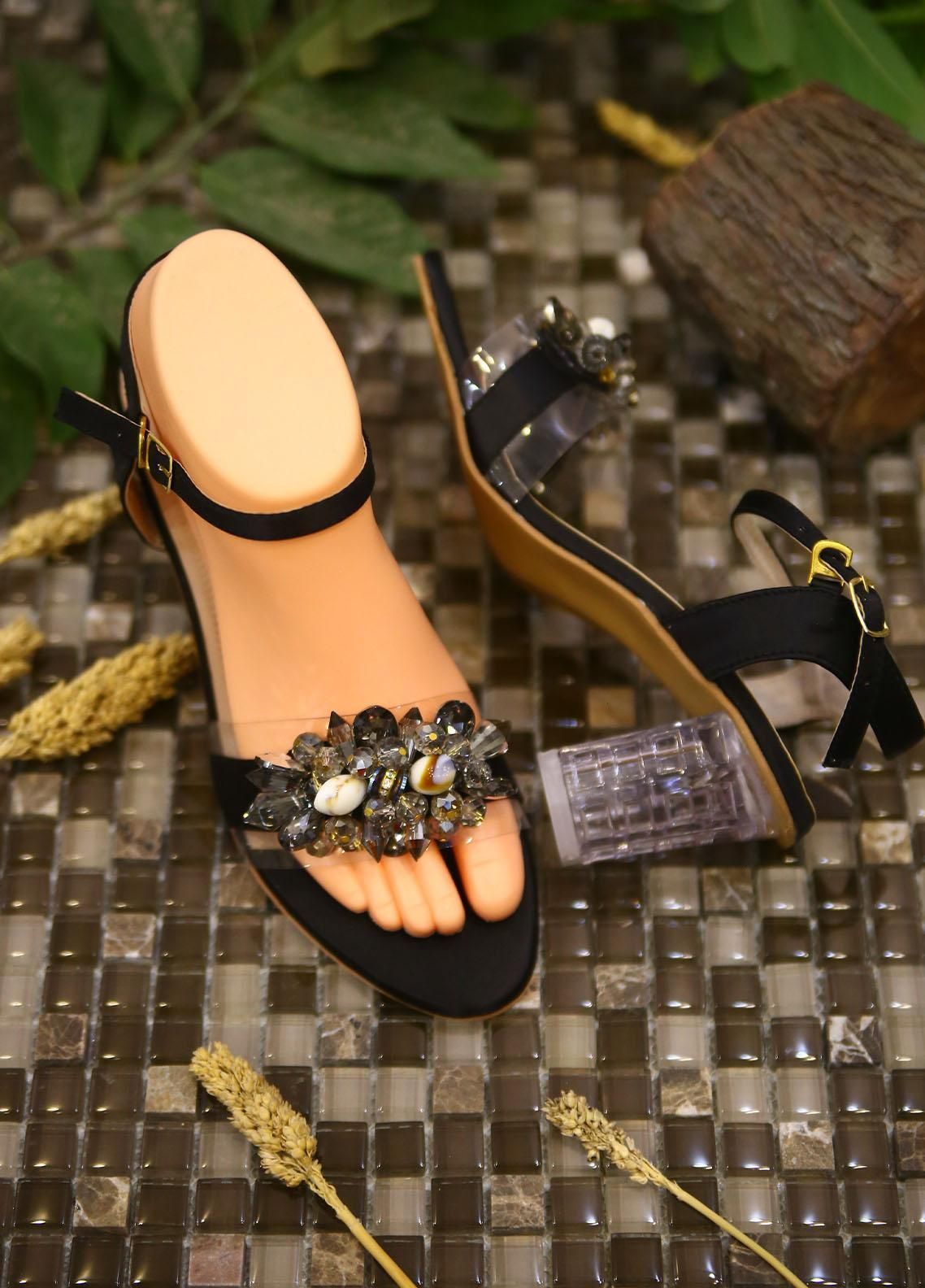 1st Sight Fashion Formal Style  Heel  Aroosa Heel 3 Black