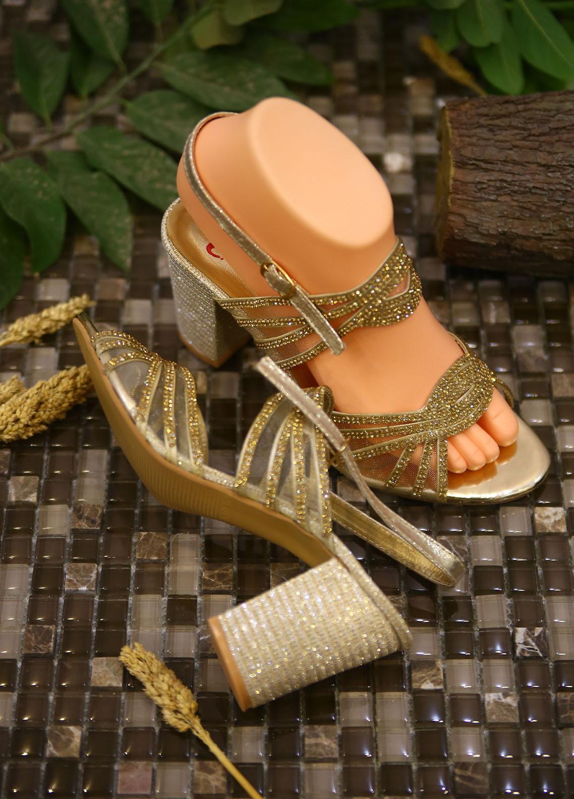 1st Sight Fashion Formal Style  Heel  Y Heel 13 Golden