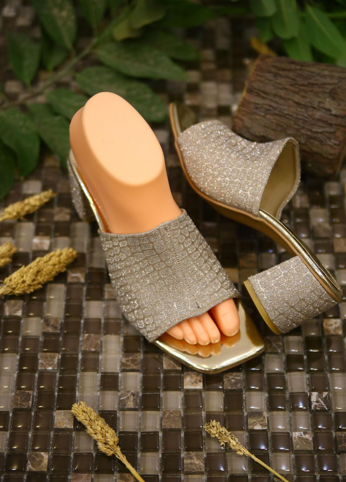 1st Sight Fashion Formal Style  Heel  Y Heel 8 Silver