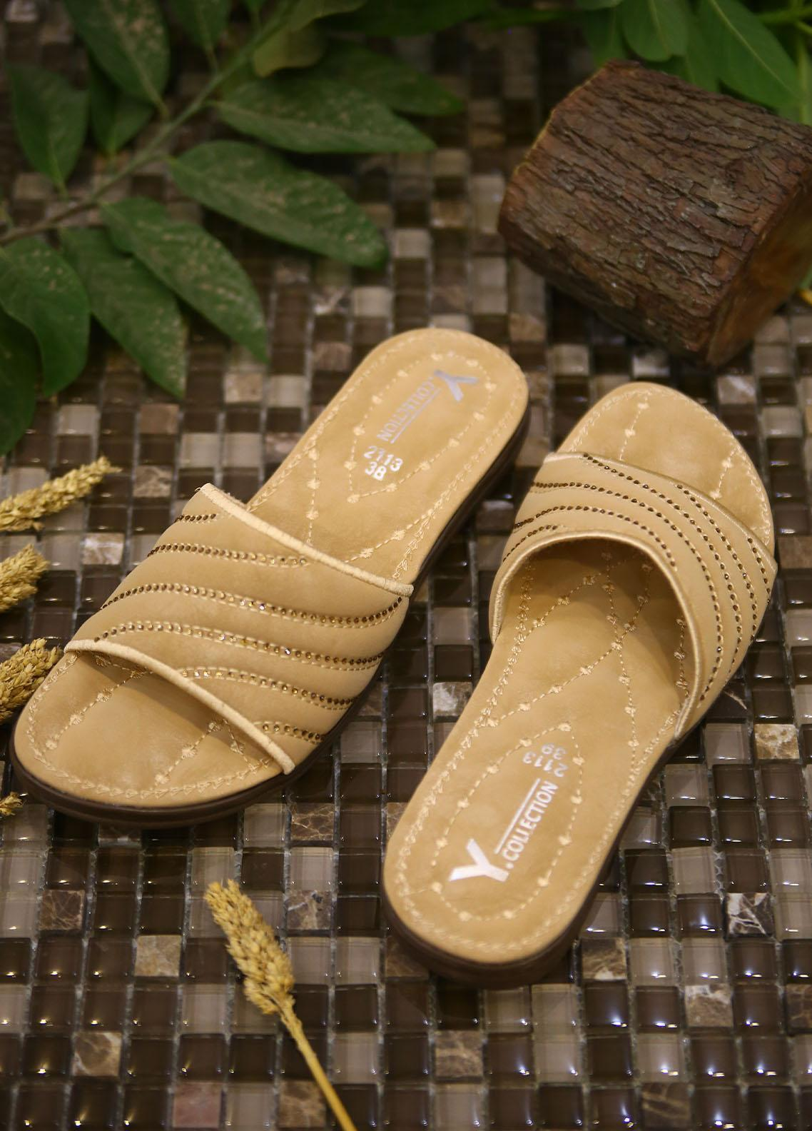 1st Sight Fashion Casual Style  Softy Shoes  Y Softy 13 Gold