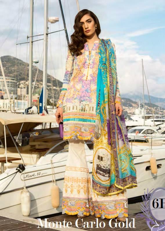 Farah Talib By LSM Embroidered Lawn Unstitched 3 Piece Suit FT17L 6B