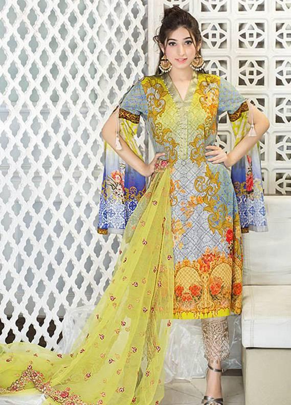 Iznik Embroidered Lawn Unstitched 3 Piece Suit IZ17E2 06