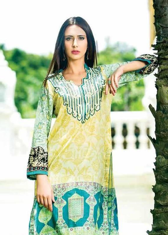 Zaneesha By Al Zohaib Embroidered Lawn Unstitched Kurtis AZN16S 5B