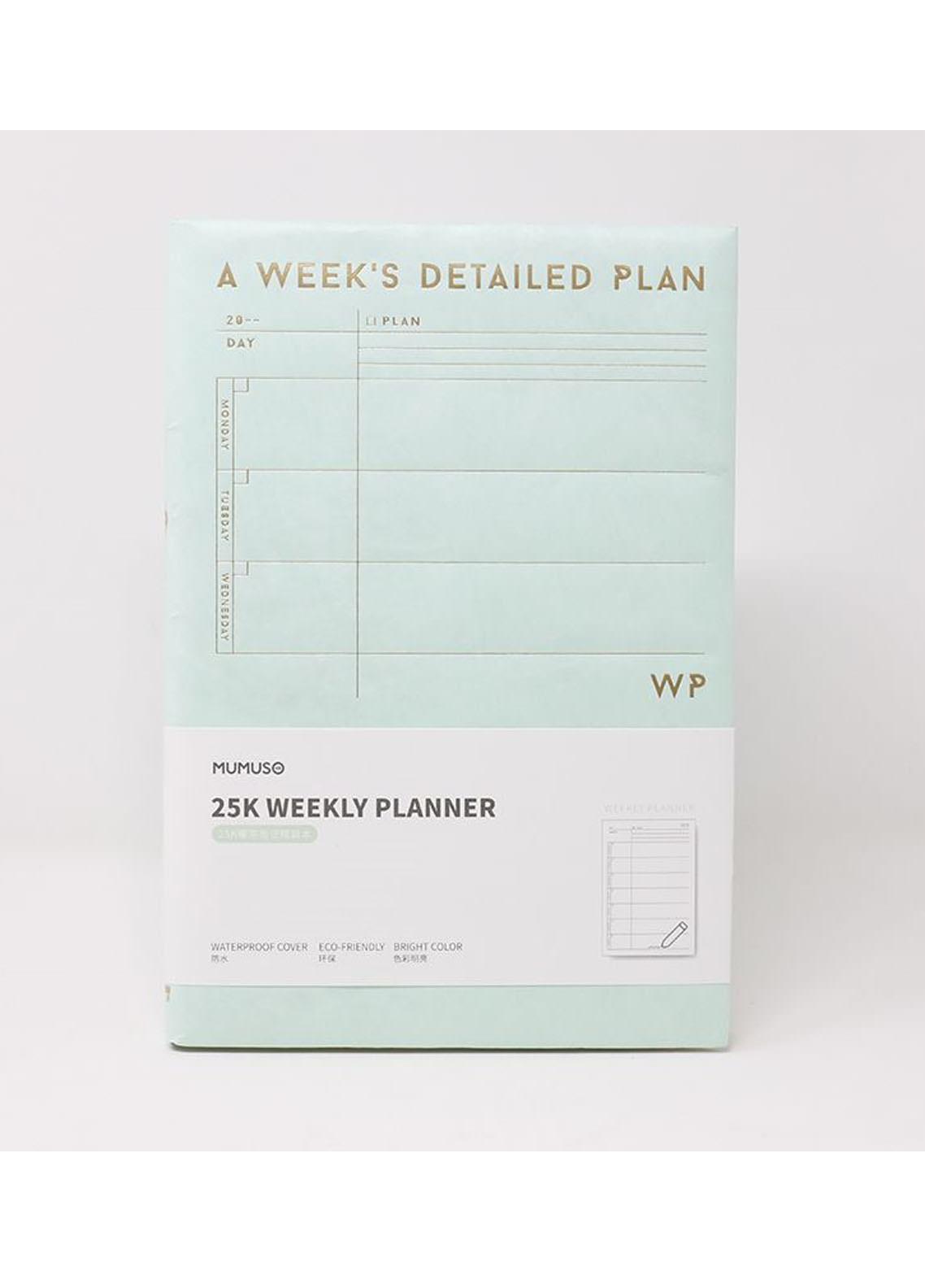 25K WEEKLY PLANNER (MINT GREEN)