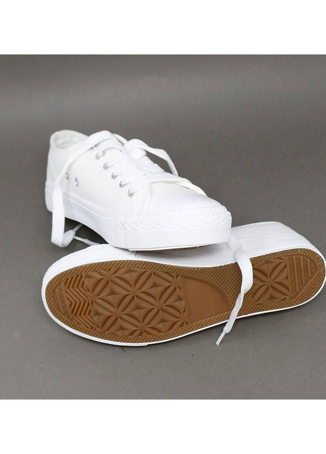 Mumuso Casual Style  Flat Shoes 51 CANVAS WHITE
