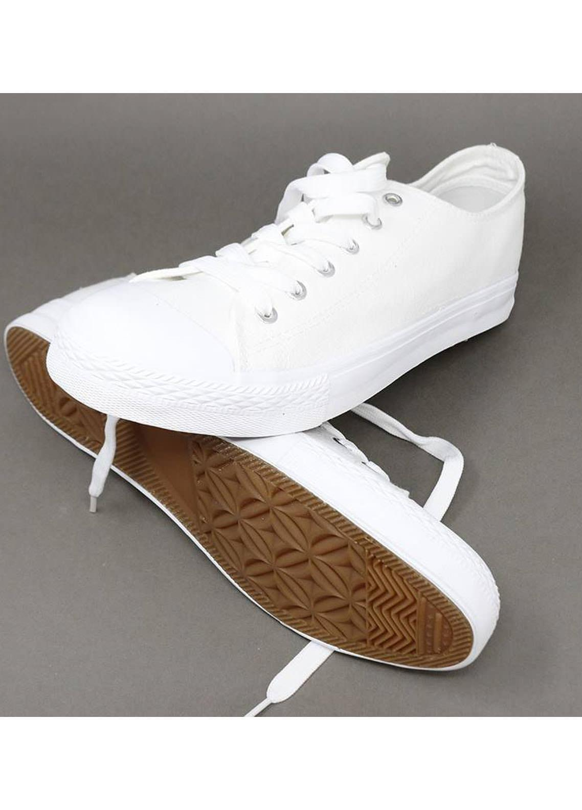 Mumuso Casual Style  Flat Shoes 67 CANVAS WHITE