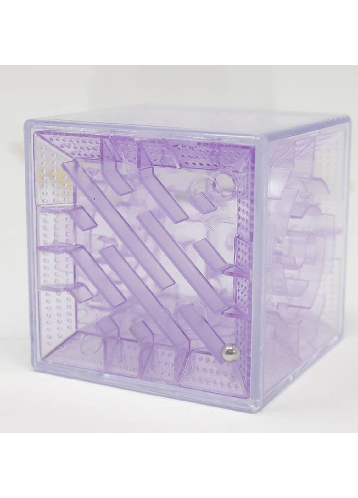 Mumuso TRANSPARENT 3D MAZE(PURPLE-5.5 CM)-Purple