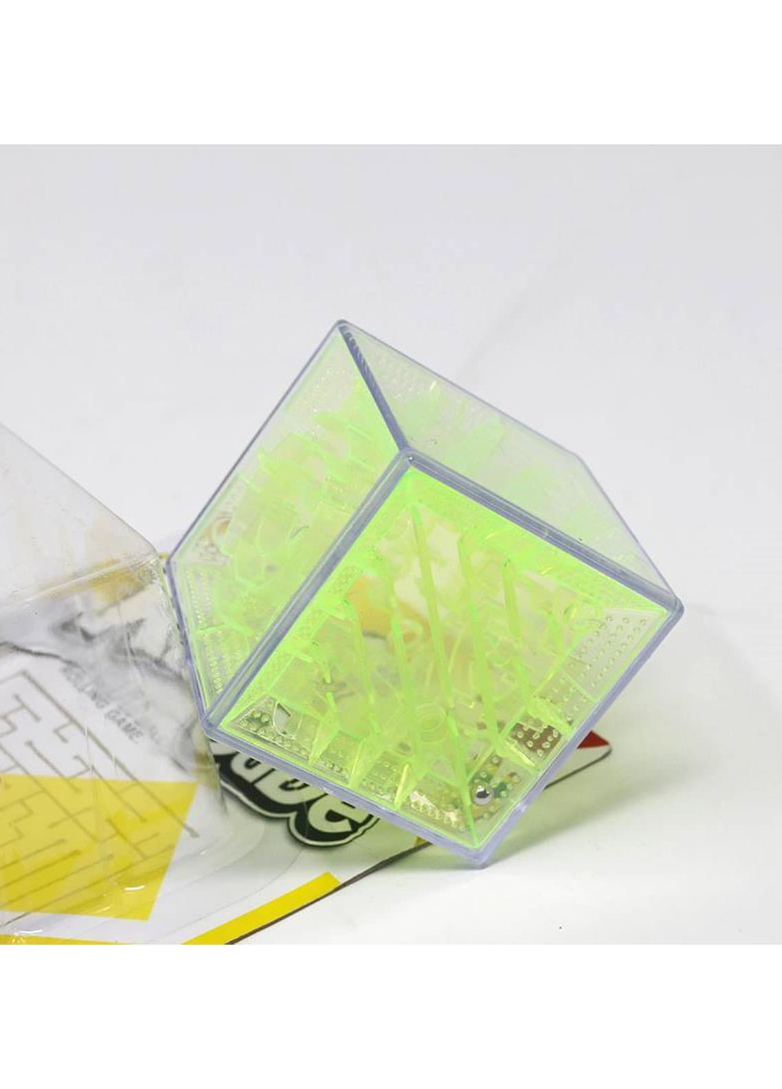 Mumuso TRANSPARENT 3D MAZE(GREEN-5.5 CM)-Green