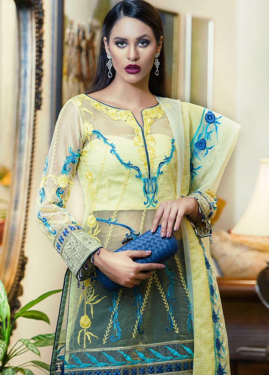 Aamna Aqeel Embroidered Silk Unstitched 3 Piece Suit AA18S 08 - Festive Collection