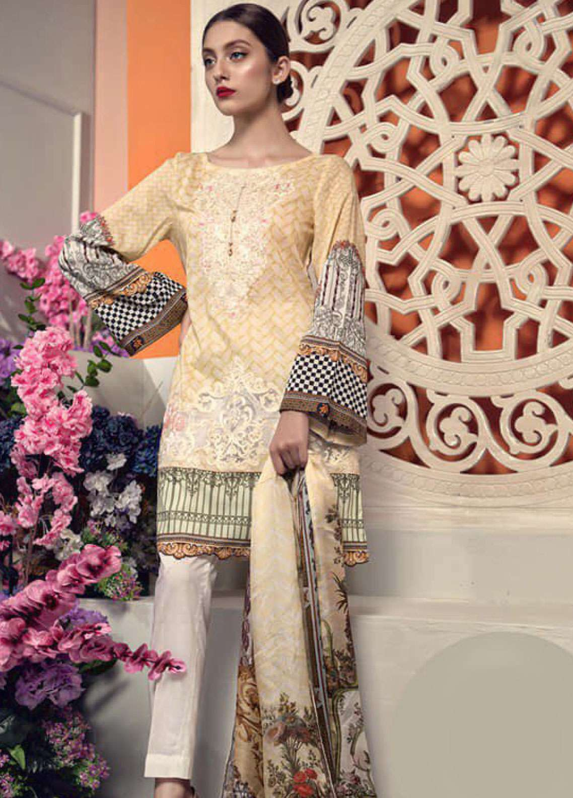 Aayra Embroidered Lawn Unstitched 3 Piece Suit AY19L 06B - Spring / Summer Collection
