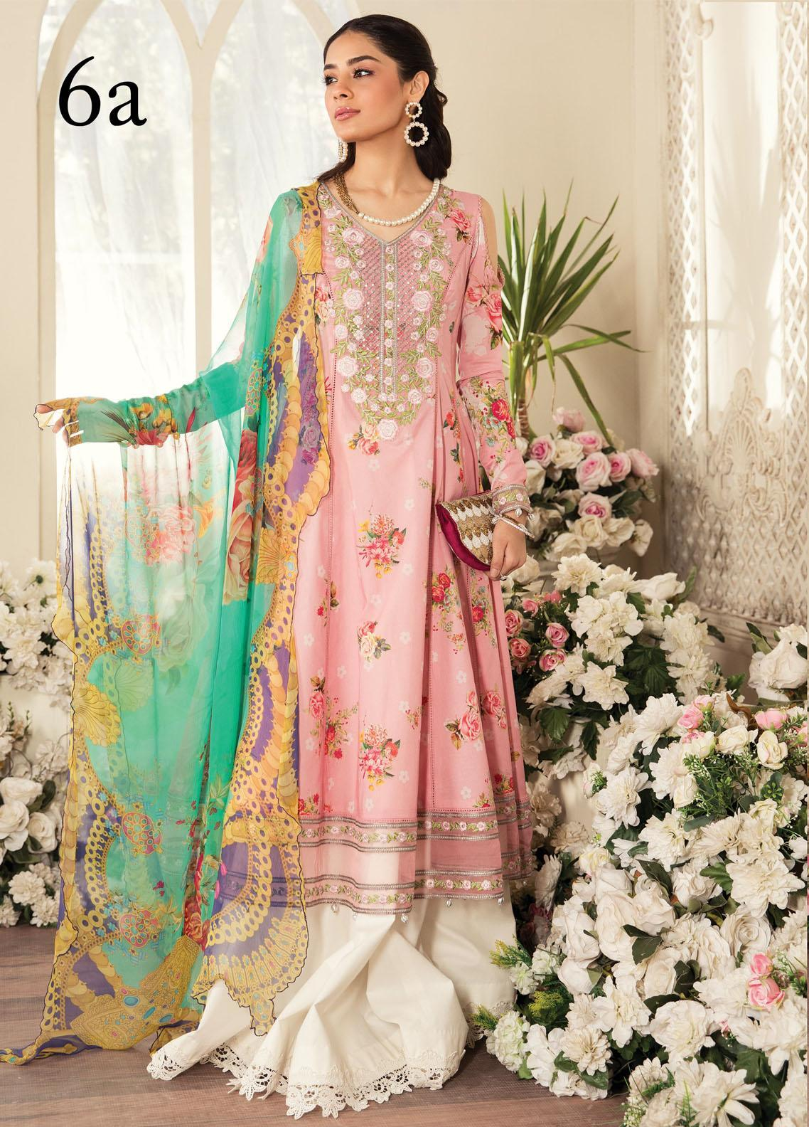 Aayra Embroidered Lawn Suits Unstitched 3 Piece AY21L 06A - Luxury Collection