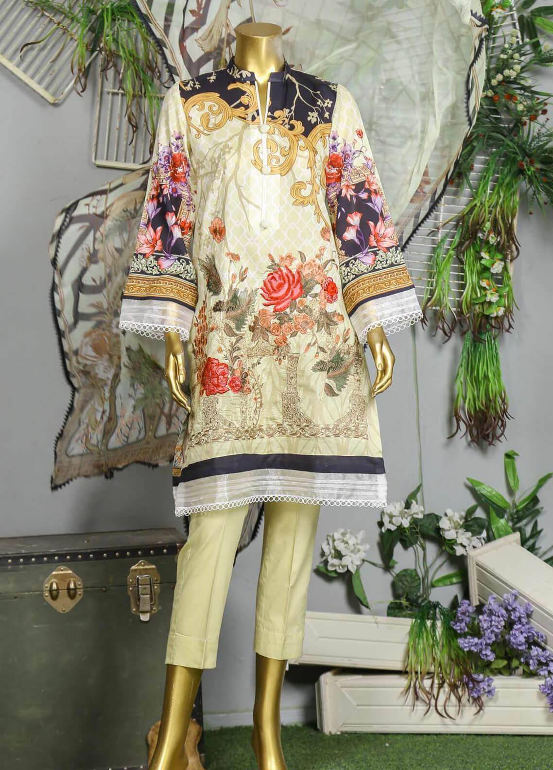 Abyaan Embroidered Lawn Unstitched 3 Piece Suit ABY19F 03 HAYYA - Festive Collection