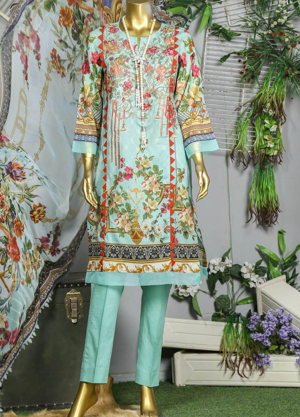 Abyaan Embroidered Lawn Unstitched 3 Piece Suit ABY19F 04 JASHAN - Festive Collection