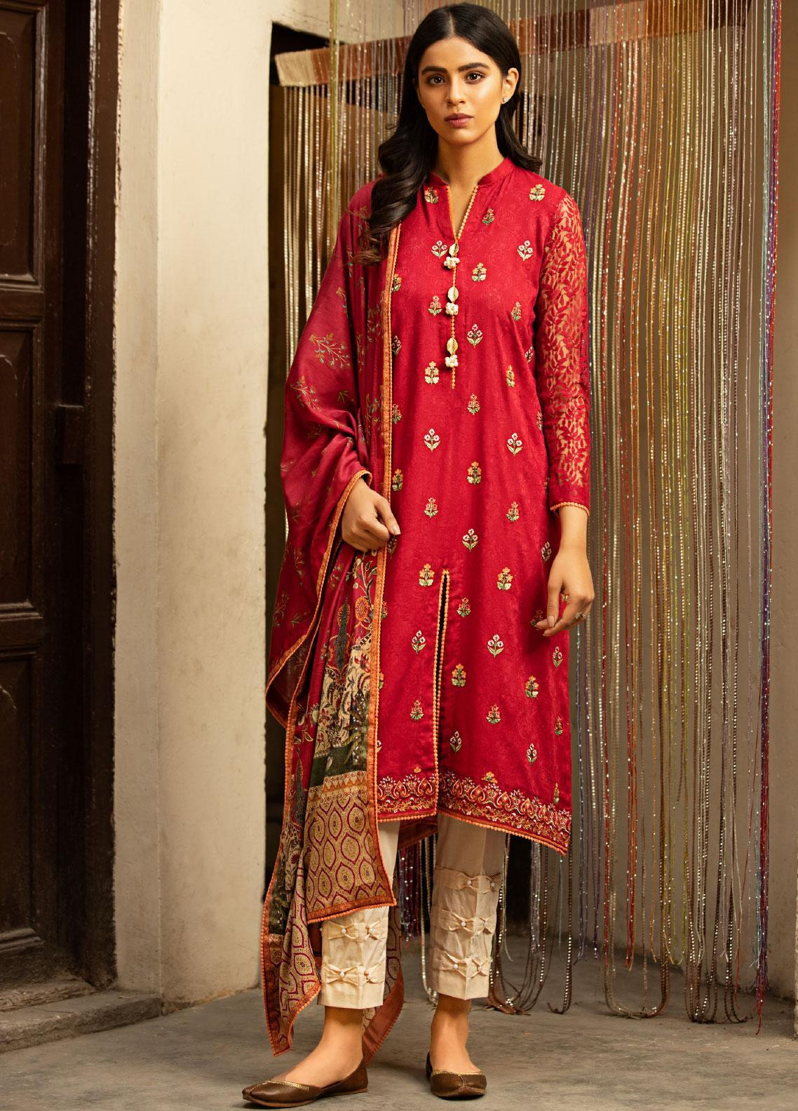 Abyaan Embroidered Lawn Unstitched 3 Piece Suit ABY20L 6 - Luxury Collection