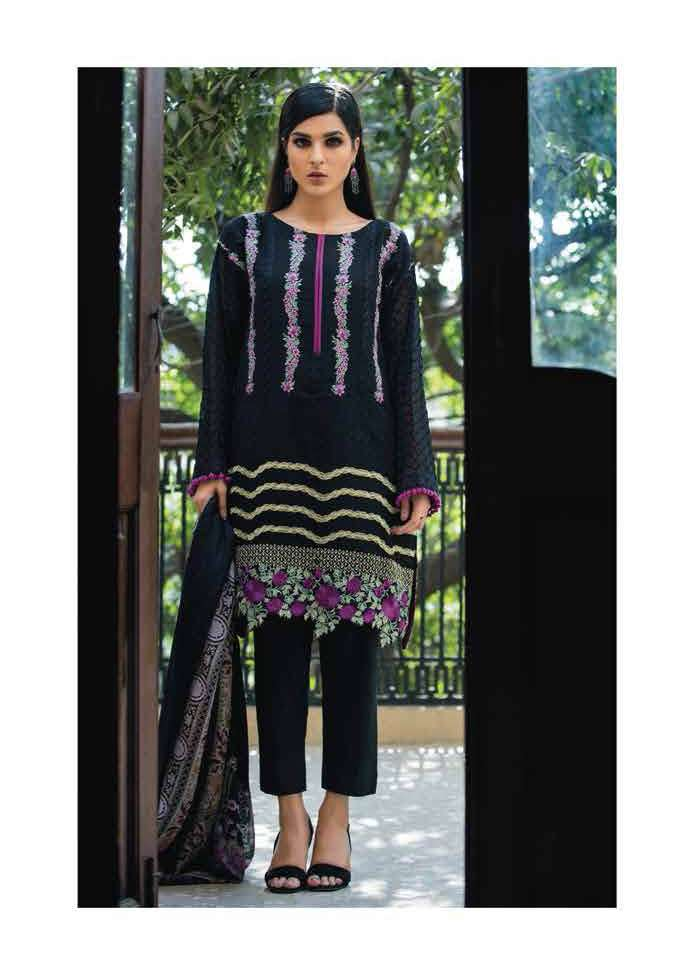Arisha Chowdary BY ZS Embroidered Silk Unstitched 2 Piece Suit AC17S 04