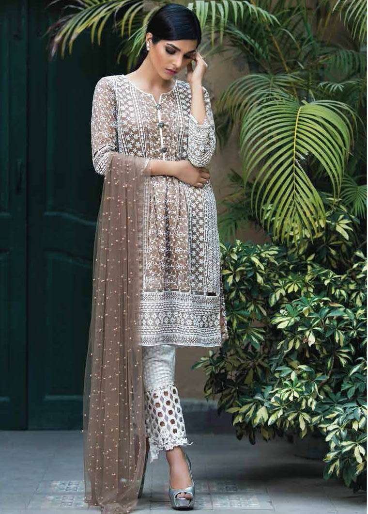 Arisha Chowdary BY ZS Embroidered Silk Unstitched 2 Piece Suit AC17S 09