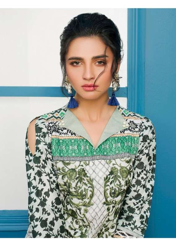 Arisha Chowdary BY ZS Embroidered Lawn Unstitched 3 Piece Suit AC18L 07 - Spring / Summer Collection