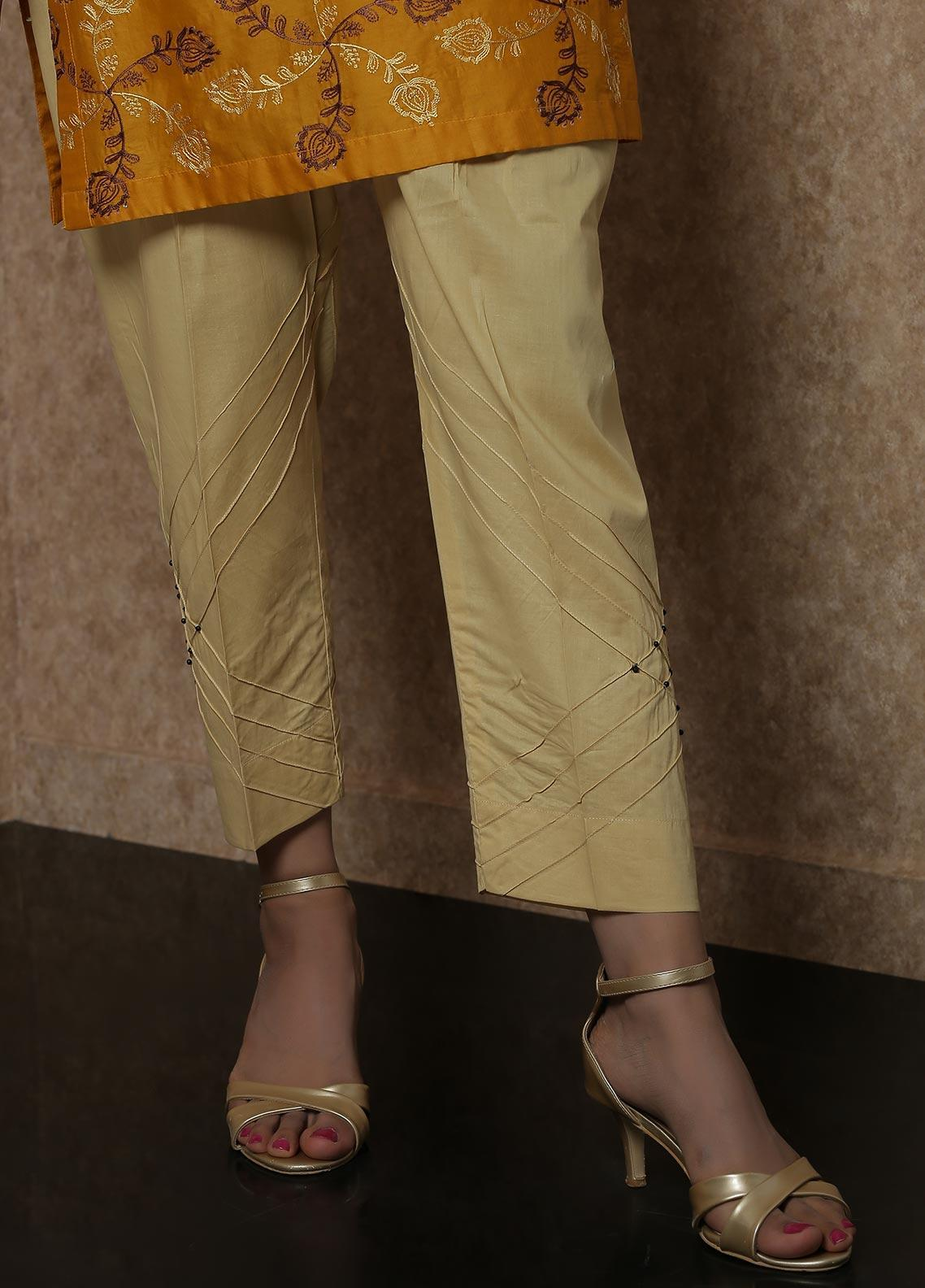 Addee Pret Embroidered Lawn Stitched Trousers Ladies Trouser V4-S20-T025 Skin-S