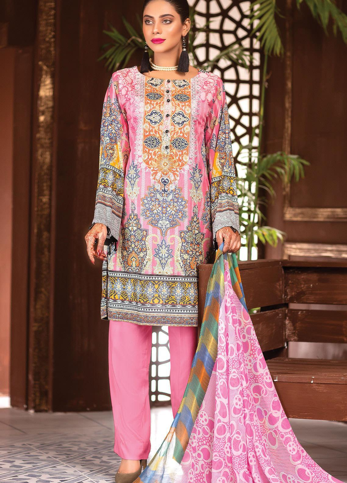 Afreen by Zebaish Embroidered Lawn Suits Unstitched 3 Piece ZSH21AR DE-07 - Summer Collection