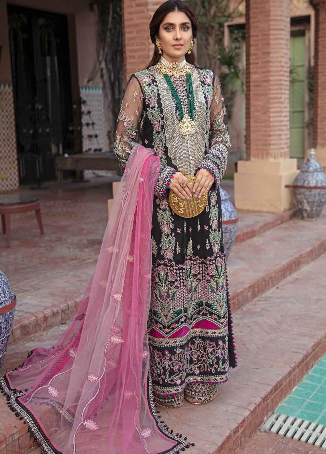 Afrozeh Embroidered Net Suits Unstitched 3 Piece AF21HW KIARA - Formals Wedding  Collection