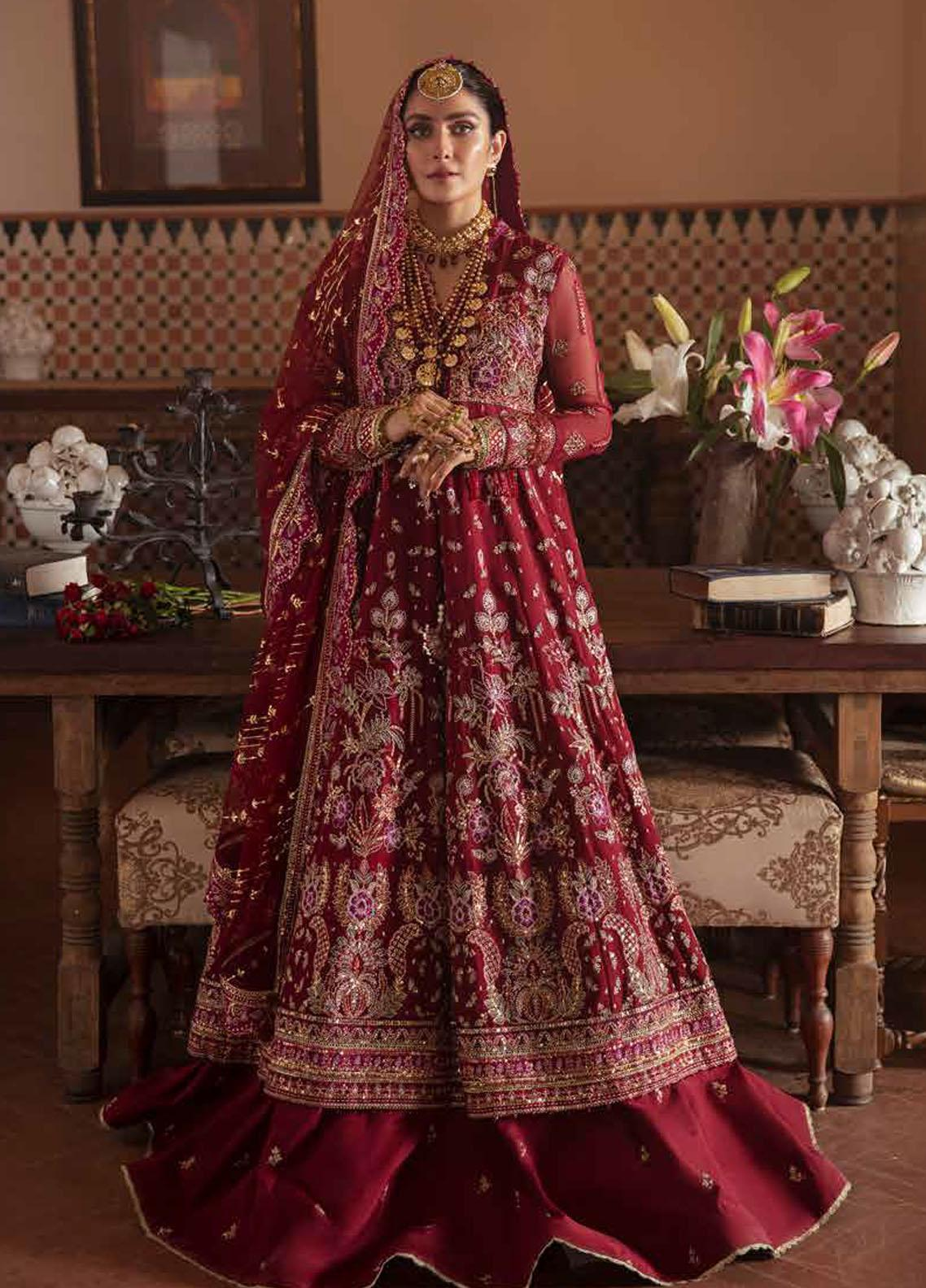 Afrozeh Embroidered Chiffon Suits Unstitched 3 Piece AF21HW ROSHANAY - Formals Wedding  Collection