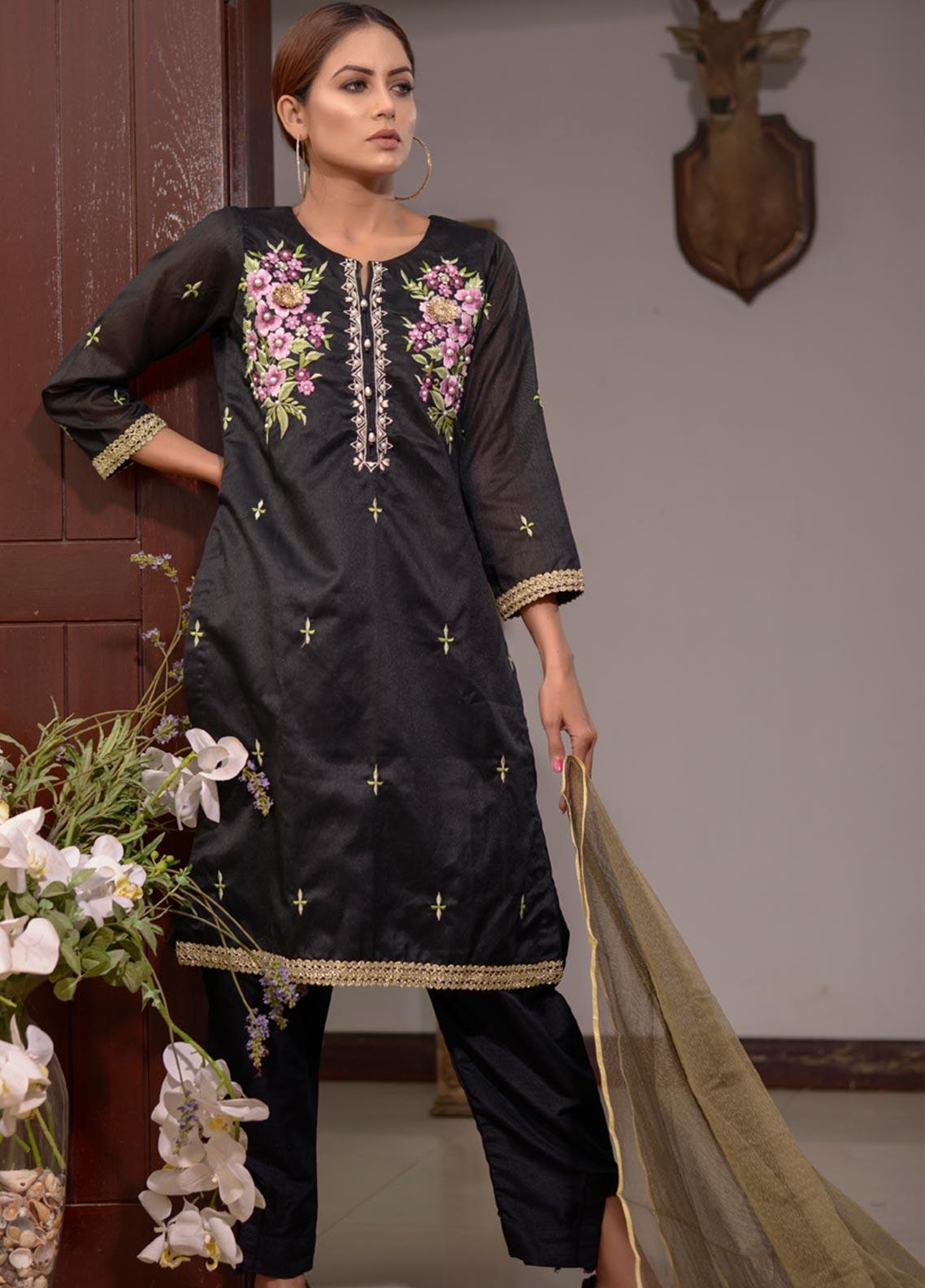 Elaheh Embroidered Khaadi Unstitched 3 Piece Suit ELH20AF 02 - Luxury Collection