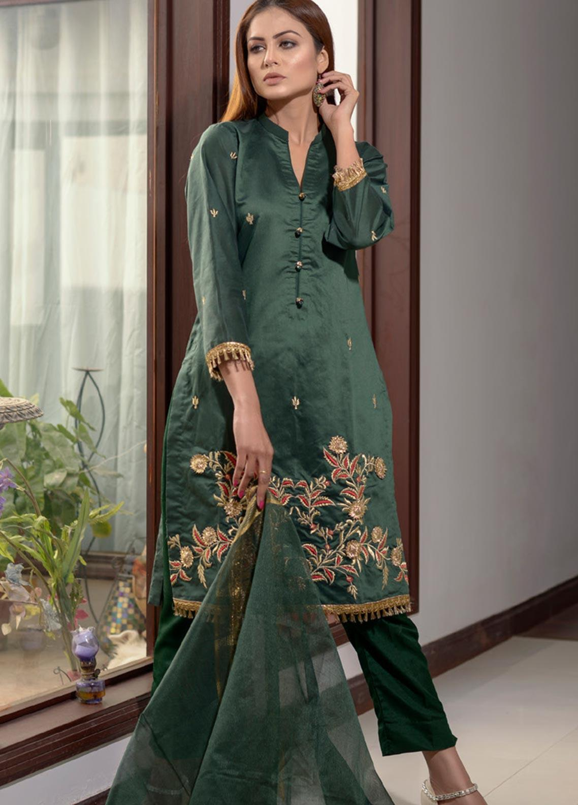 Elaheh Embroidered Khaadi Unstitched 3 Piece Suit ELH20AF 05 - Luxury Collection