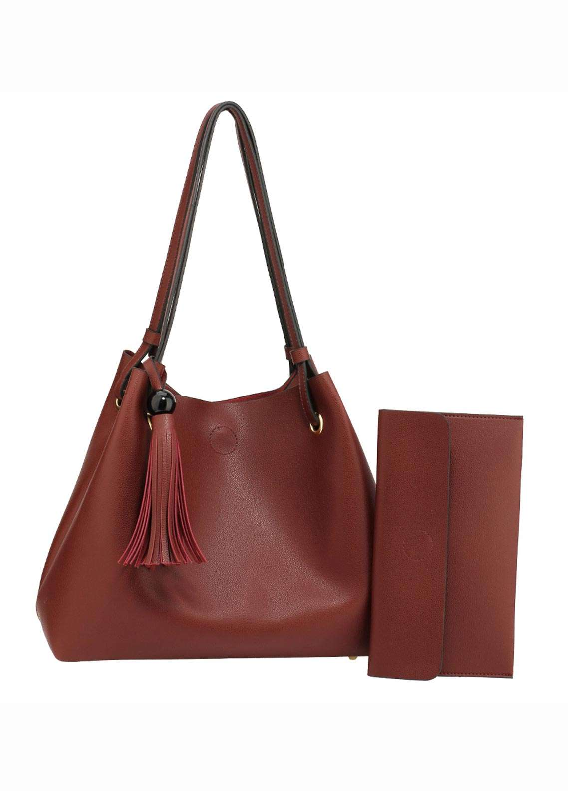 Anna Grace London Faux Leather Hobo Bags  for Women  Red with Smooth Texture