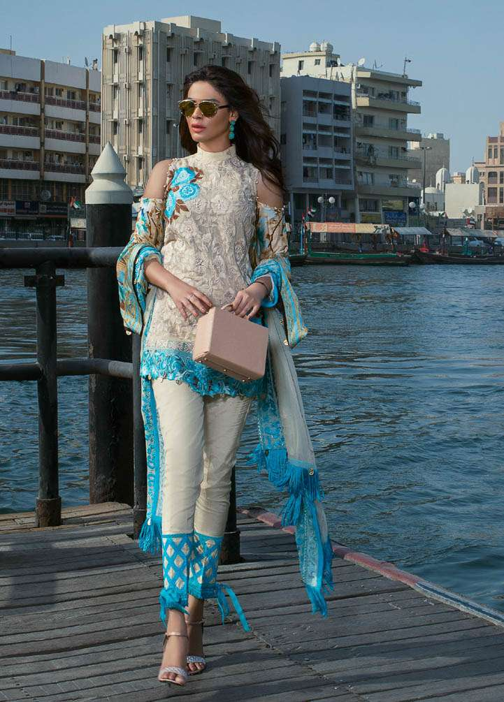 Ayesha Ibrahim by ZS Embroidered Chiffon Unstitched 3 Piece Suit AI17E2 3A