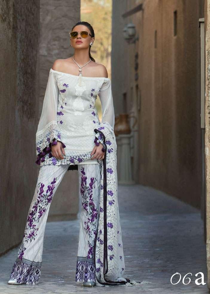 Ayesha Ibrahim by ZS Embroidered Chiffon Unstitched 3 Piece Suit AI17E2 6A