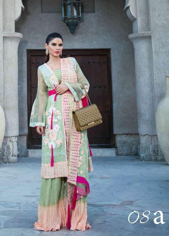 Ayesha Ibrahim by ZS Embroidered Chiffon Unstitched 3 Piece Suit AI17E2 8A