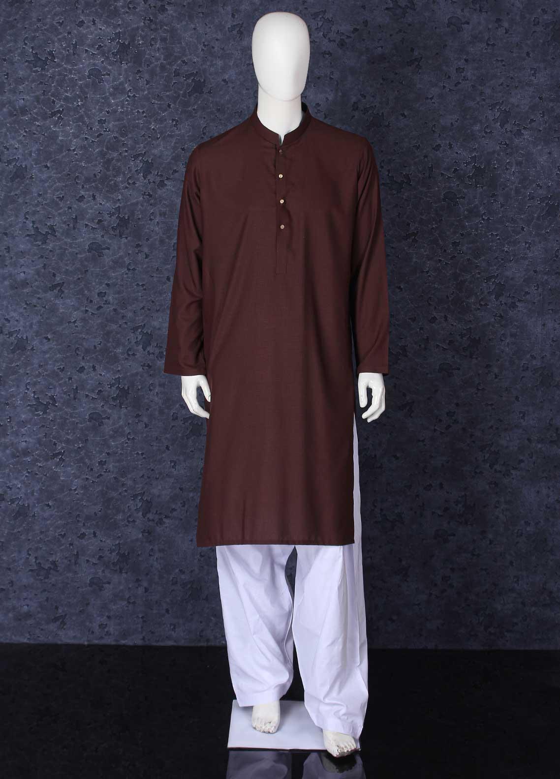 Aizaz Zafar Toyobo Formal Kurta for Men -  301 Brown