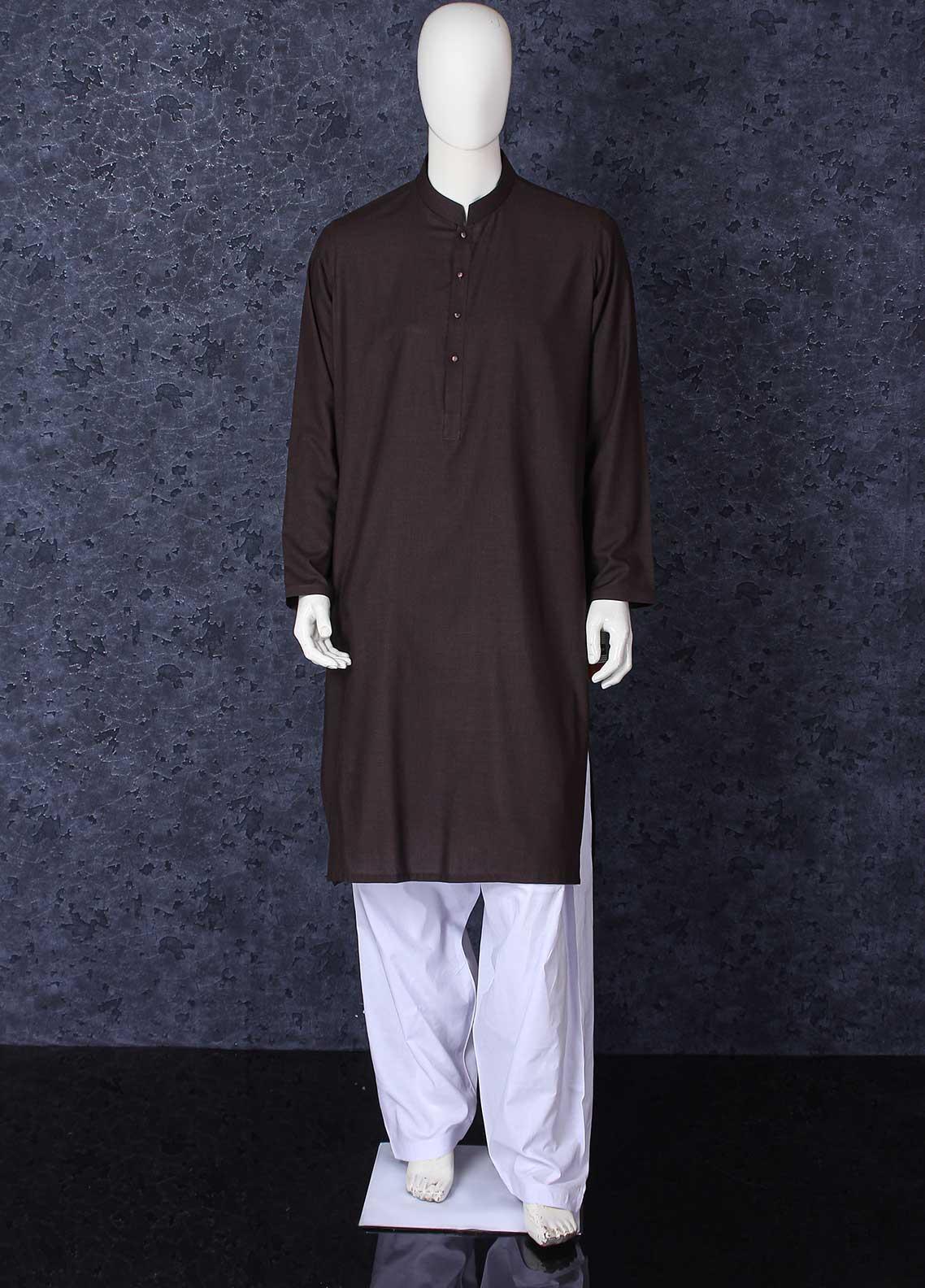 Aizaz Zafar Toyobo Formal Men Kurta -  301 Dark Brown