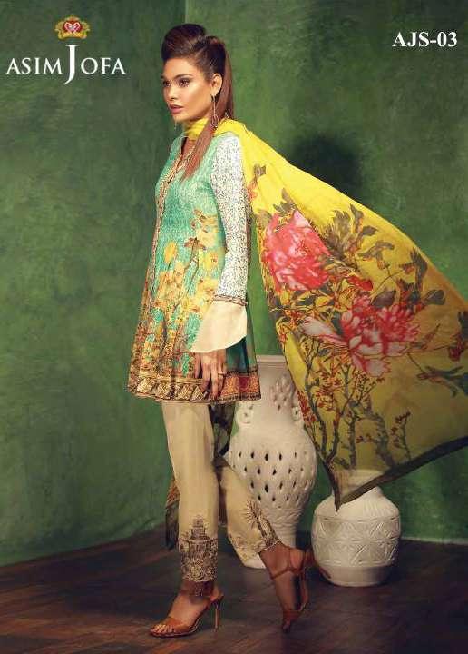 Asim Jofa Embroidered Silk Unstitched 3 Piece Suit AJ17W 03