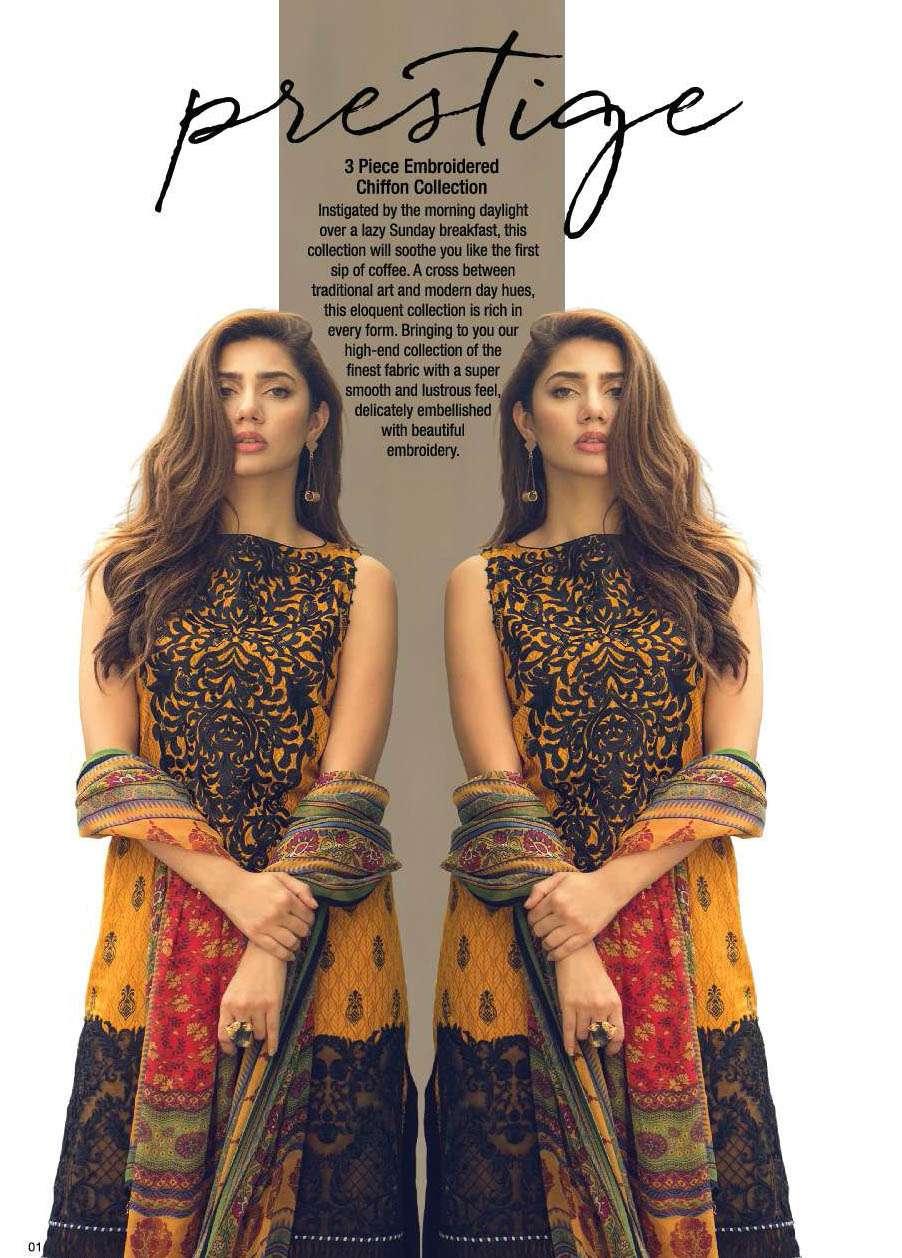 Al Karam Embroidered Cotton Unstitched 3 Piece Suit AK17E 05 Yellow