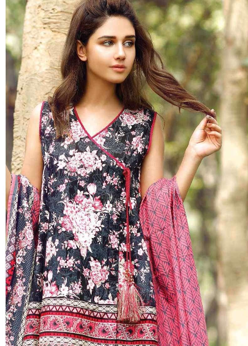 Al Karam Embroidered Cotton Unstitched 2 Piece Suit AK17E 32 Black