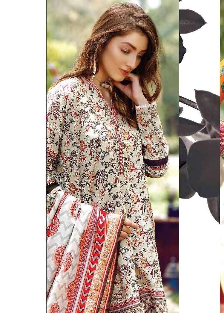 Al Karam Embroidered Cotton Unstitched 2 Piece Suit AK17E 33 Grey
