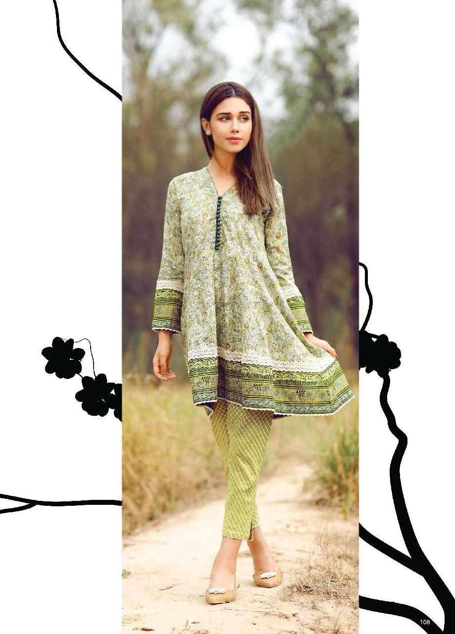 Al Karam Embroidered Cotton Unstitched 1 Piece Suit AK17E 37 Green
