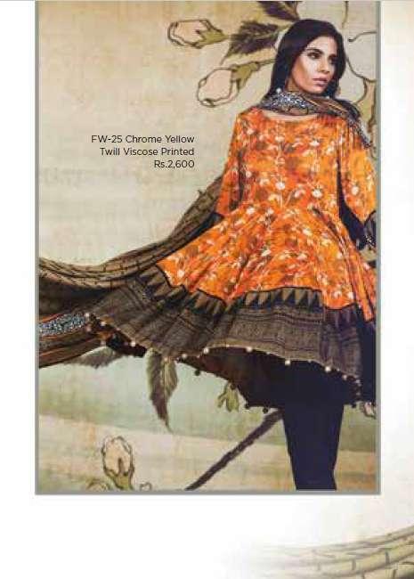 Al Karam Embroidered Linen Unstitched 3 Piece Suit AK17W 25 Chrome