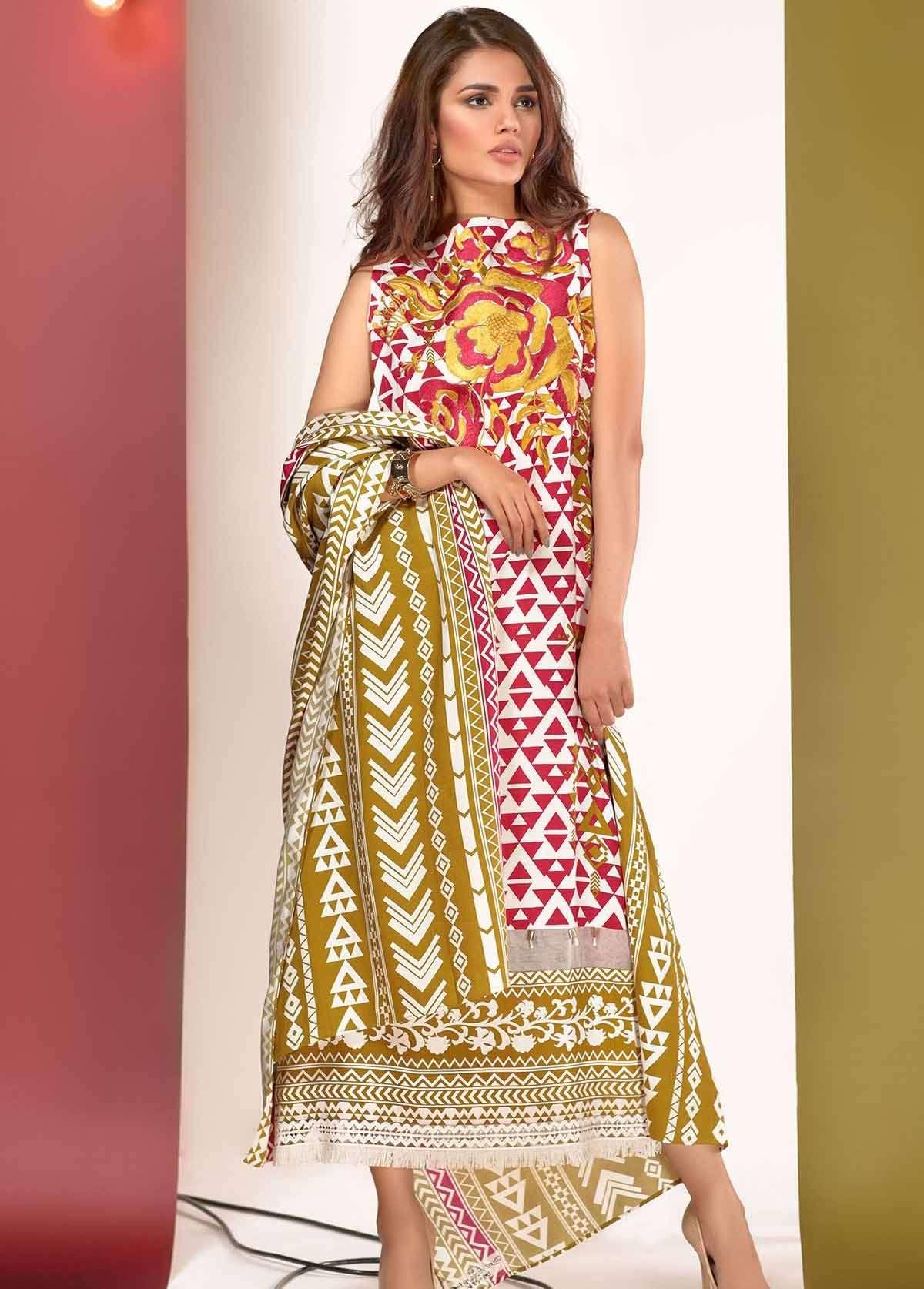 Al Karam Embroidered Linen Unstitched 3 Piece Suit AK17W 53 Pink