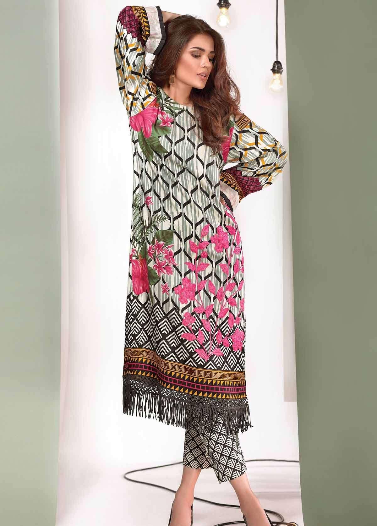 Al Karam Embroidered Linen Unstitched 3 Piece Suit AK17W 55 Black