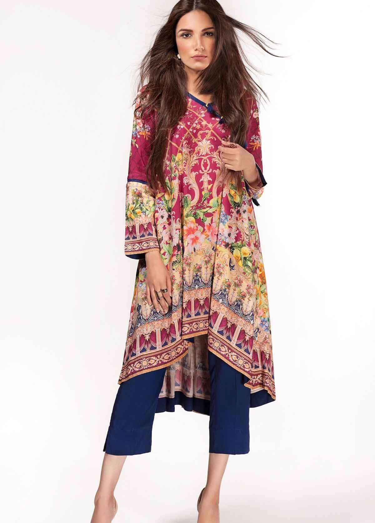 Al Karam Embroidered Linen Unstitched 2 Piece Suit AK17W 58 Pink