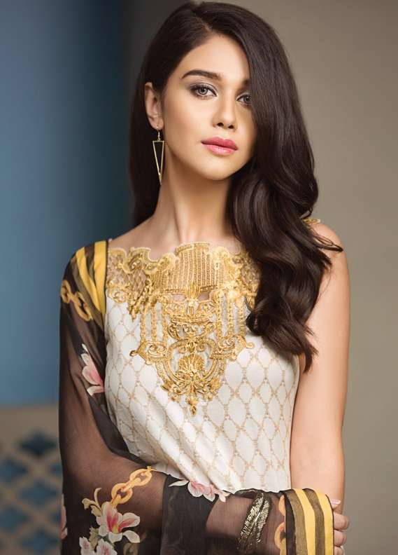 Anaya by Kiran Chaudhry Embroidered Lawn Unstitched 3 Piece Suit AKC18L 10 - Spring / Summer Collection