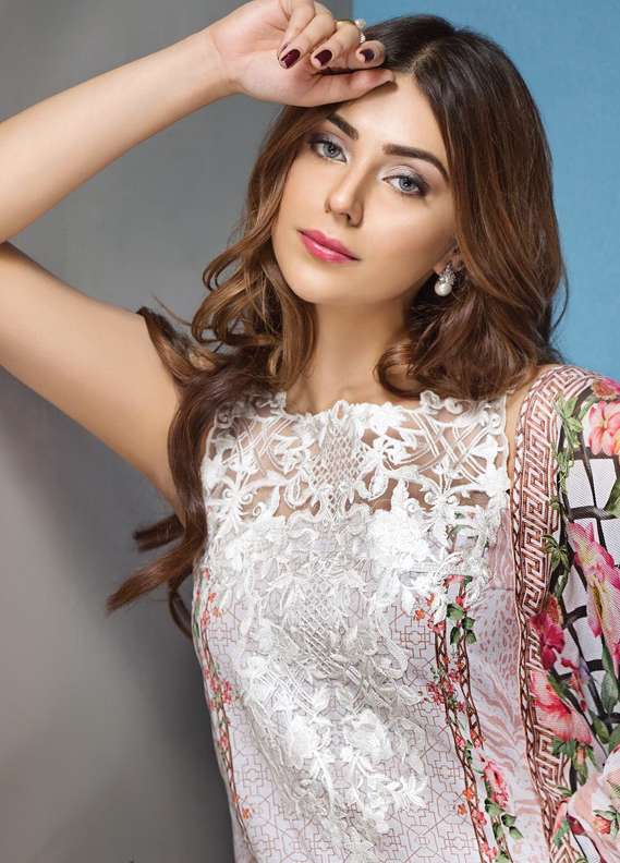 Anaya by Kiran Chaudhry Embroidered Lawn Unstitched 3 Piece Suit AKC18L 11 - Spring / Summer Collection
