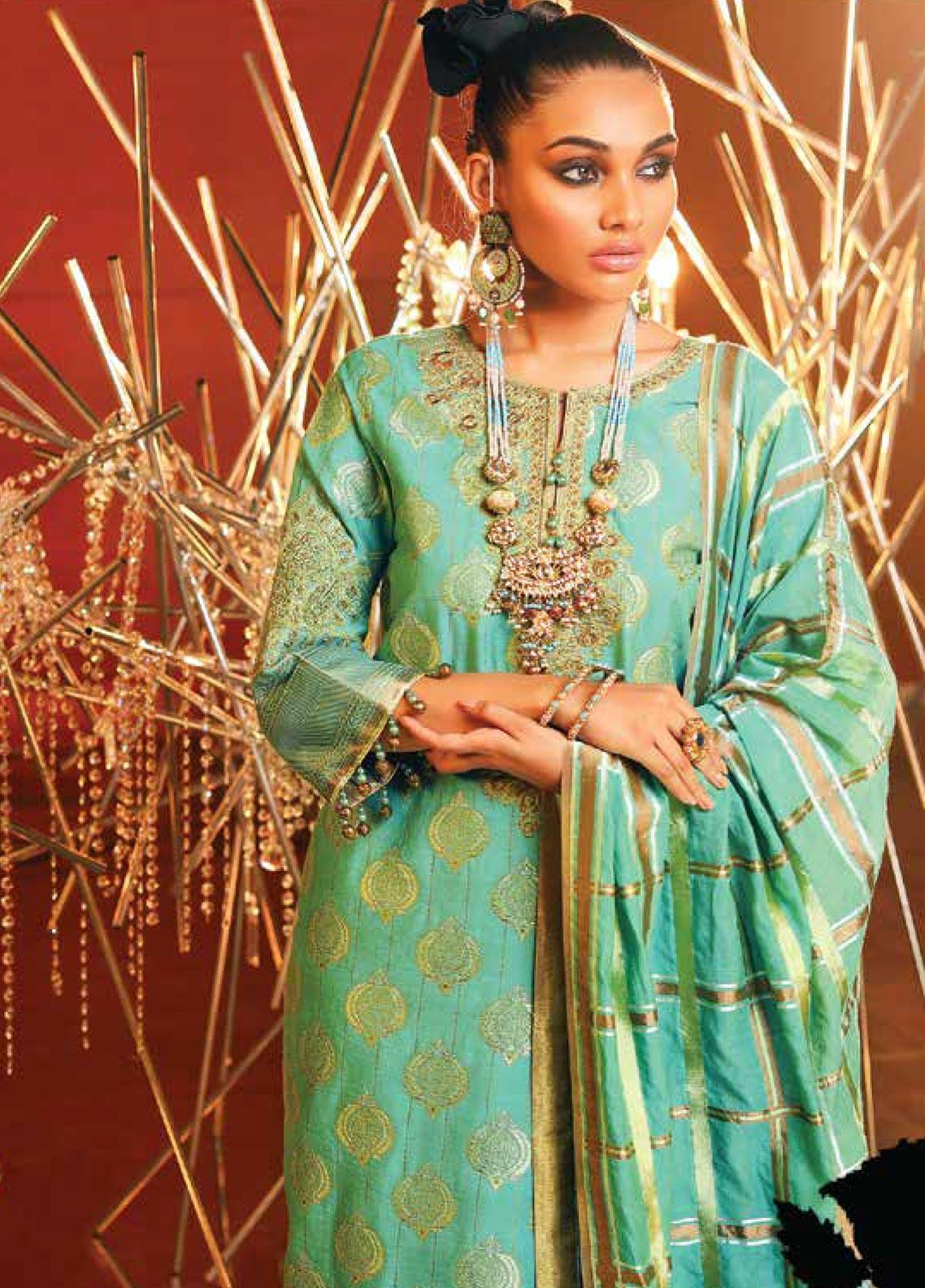 Al Karam Embroidered Jacquard Unstitched 3 Piece Suit AK20F-01A FEROZI - Festive Collection