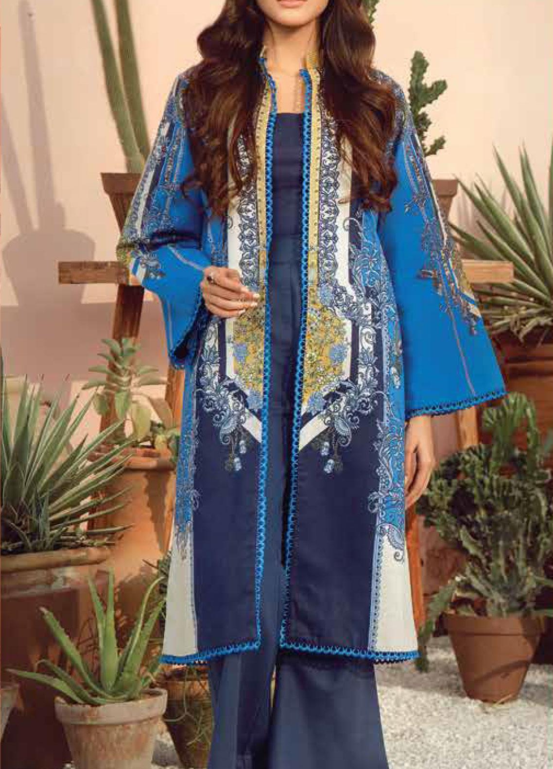 Al Karam Printed Lawn Unstitched 2 Piece Suit AK19-L2 11.1